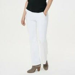 NWT BROOKE SHIELDS TIMELESS FLARE JEANS 12P WHITE
